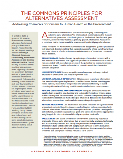 Commons Principles for Alternatives Assessment image